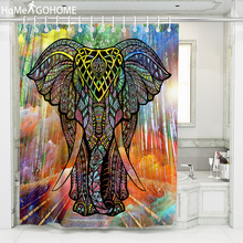 African Elephant 3D Shower Curtain Watercolor Forest Art Bathroom Curtain Moldproof Waterproof Fabric Bath Curtain douchegordijn цена в Москве и Питере