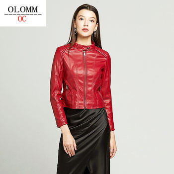 OLOMM OC2020  NF7006E Women's Clothing Fake Leather Matte New Coat Top Quality DHL Free Shipping 1