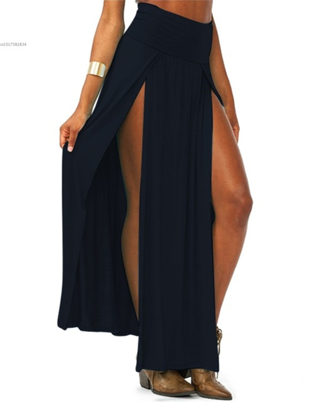 2019-New-Arrival-High-Waisted-Sexy-Womens-Double-Slits-Summer-Solid-Long-Maxi-Skirt-Wholesale-51.jpg_640x640 (2)
