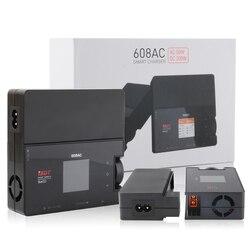 Isdt 608ac 60 w dc 200 w 8a battgo carregador de bateria inteligente descarregador com fonte alimentação destacável