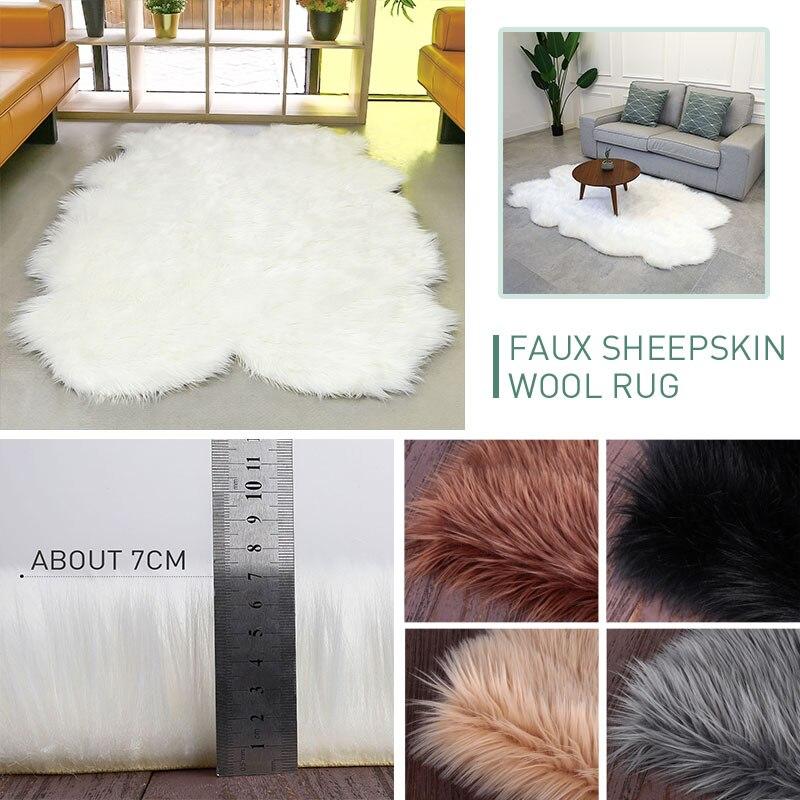 Tapis moelleux laine tapis chaud luxueux multicolore irrégulière forme décoration maison chaise tapis plancher canapé salle à manger