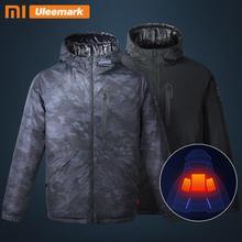 Xiaomi Men's Electric Heated Down Jacket Hooded Lightweight Waterproof Winter Coat Uleemark