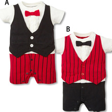 2019 new fashion newborn jumpsuit female baby tights long sleeve bow striped suit male girl clothing