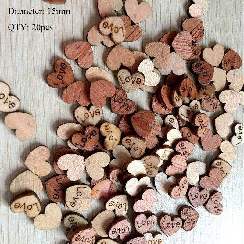 20 шт деревянные пуговицы для рукоделия, аксессуары для скрапбукинга, декорации, botones de madera para manualidades - Цвет: K14