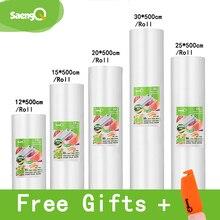 Bolsas de vacío saengQ para alimentos sellador al vacío alimentos frescos de larga duración 12 + 15 + 20 + 25 + 30cm * 500cm rollos/lote de bolsas para envasador al vacío