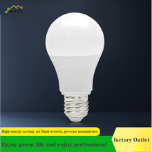 Led bulb lamp constant current drive E27 screw B22 plastic bag aluminum bulb energy saving bulb