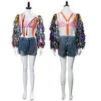 Birds Of Prey And The Fantabulous Emancipation Of One Quinn Cheerleader Dress Cosplay Costume Adult Women Halloween Full Set