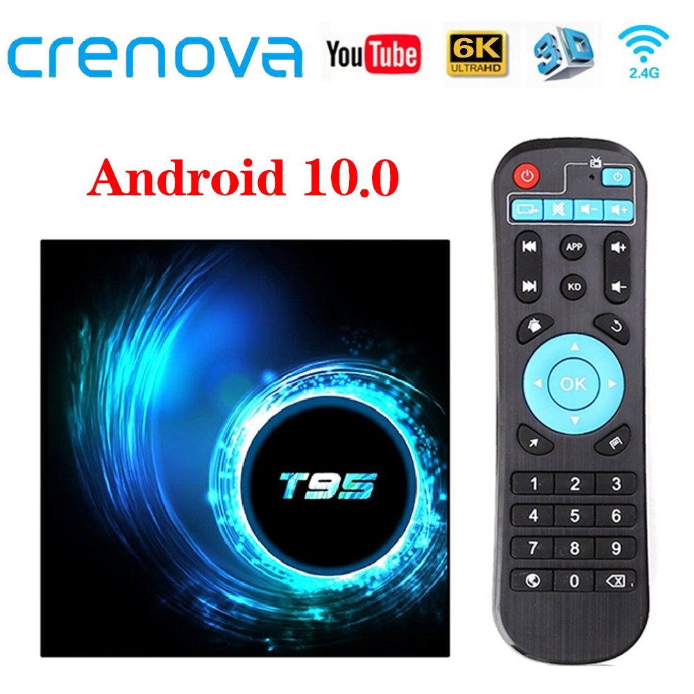 CRENOVA T95 TV Box Android 10 0 4GB 32GB 64GB Quad Core 1080P H 265 6K YouTube Media player 2GB 16GB Set top box