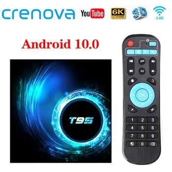 CRENOVA T95 TV Box Android 10.0 4GB 32GB 64GB Quad Core 1080P H.265 6K YouTube Media player 2GB 16GB Set top box