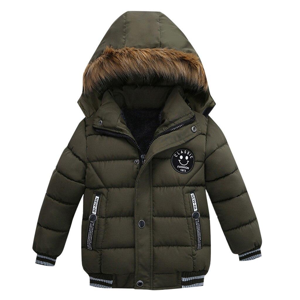 kurtka parka zimowa z chinskiego chłopieca