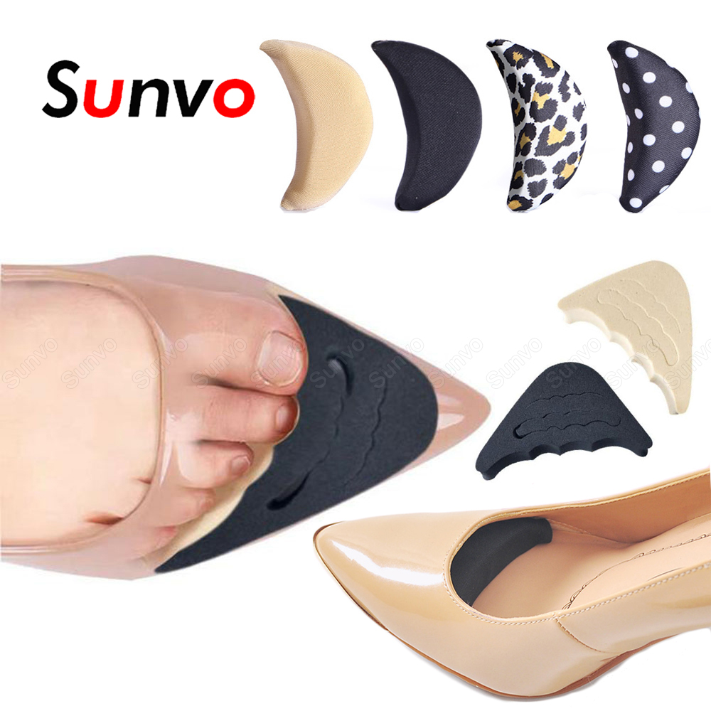 Sunvo Forefoot Inserts Pads for Women Shoes Filler High Heels Toe Plug Protector Anti-Pain Insoles for Foot Shoe Cushion Pad
