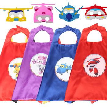 Super Wings Toy Anime characte Set Mask Cape Cloak Cosplay Cartoon  Birthday Gifts Christmas Halloween party decoration Kids - discount item  20% OFF Feeding