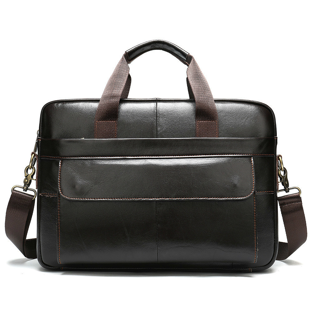 Genuine Leather Male Package Business Affairs Cowhide Briefcase Single Shoulder Satchel Man Portable Computer Office Bags Men