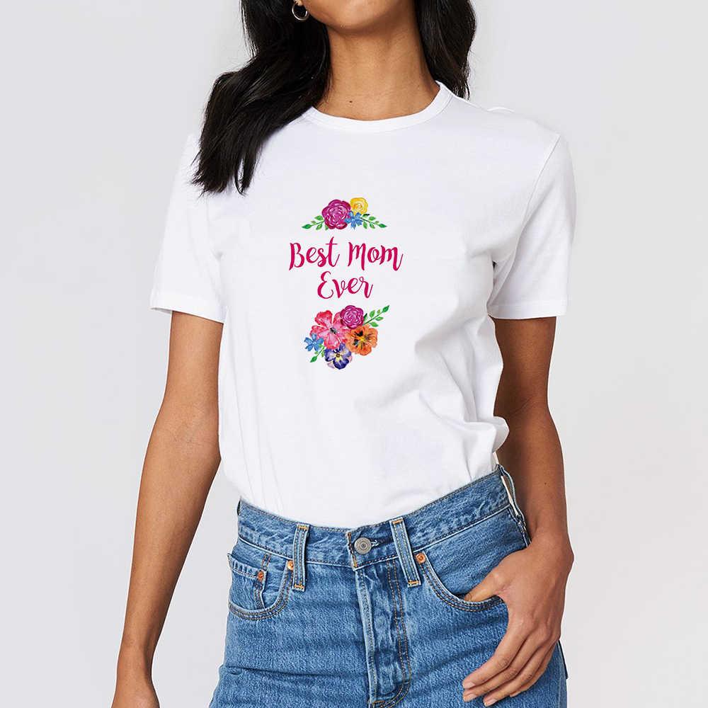 Beste Mutter immer t-shirt Frühling Sommer Punk Pop Streetwear T Hemd Harajuku Lose Ziemlich Frauen Tops Kleidung Rundhals T-shirt