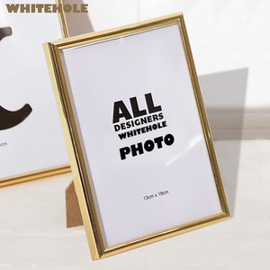Metal Photo Frame Classic Minimalist Desktop Picture Frame Photo 9x13 10x15 13x18cm Pleixglass Inside,desktop stand or hang wall