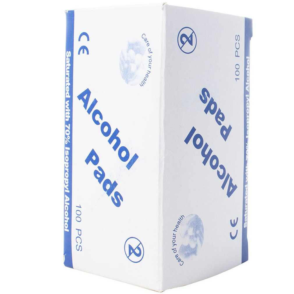 Disposable Alcohol Swabs Non-woven 75% Alcohol 70% Alcohol Nail Cleaner Wipes Disinfection Wet Wipes 100pcs