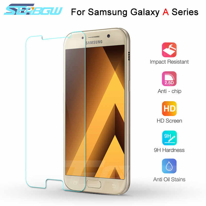Tempered Glass on the For Samsung Galaxy A7 A5 A3 2015 2016 2017 Screen Protector For Samsung A6 A8 Plus A9 2018 Protective Film