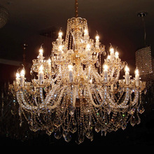 Luxury crystal 6 8 10 12 15 18 24 35arms chandelier Home Commercial Lighting Fixtures cheap HSHIXINMAO Hot Bending Parlor Study Master Bedroom other bedrooms Hotel Hall Hotel Room Chain Pendant Pendant Lights 3 years