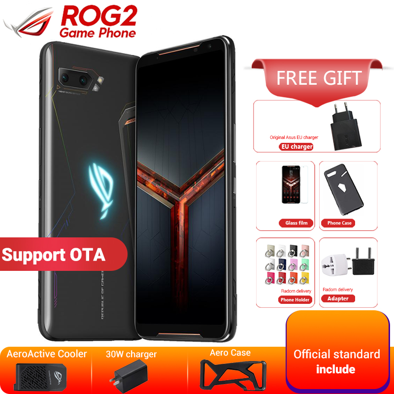 Asus ROG Phone 2 ZS660KL 12GB 1TB Gaming Smartphone Asus ROG Phone II 6.59 Snapdragon 855+ 6000mAh 48MP NFC Game Mobile Phone image