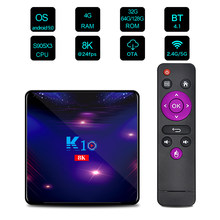 K10 Android 9,0 Smart TV Box 8K Video Dekodierung UHD 4K Media Player Amlogic S905X3 4GB 32/64/128GB ROM 2,4G/5G WiFi PK H96 MAX