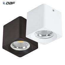 DBF כיכר צמודי Downlights 10W/20W/30W AC85 265V מתח גבוה לא ניתן לעמעום LED תקרת ספוט אור 3000K/4000K/6000K