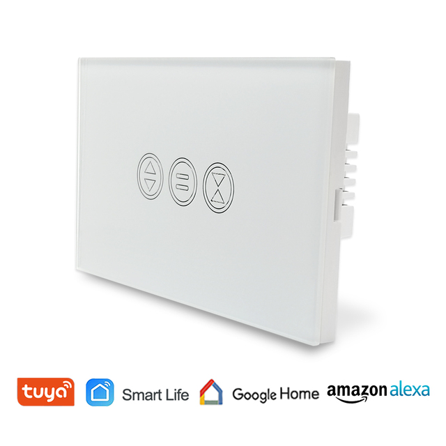 EU WiFI Smart Curtain Switch Google Home Alexa echo Voice Control Electric Blind Roller Shutter Motor Tuya Smart Life App Timer 1