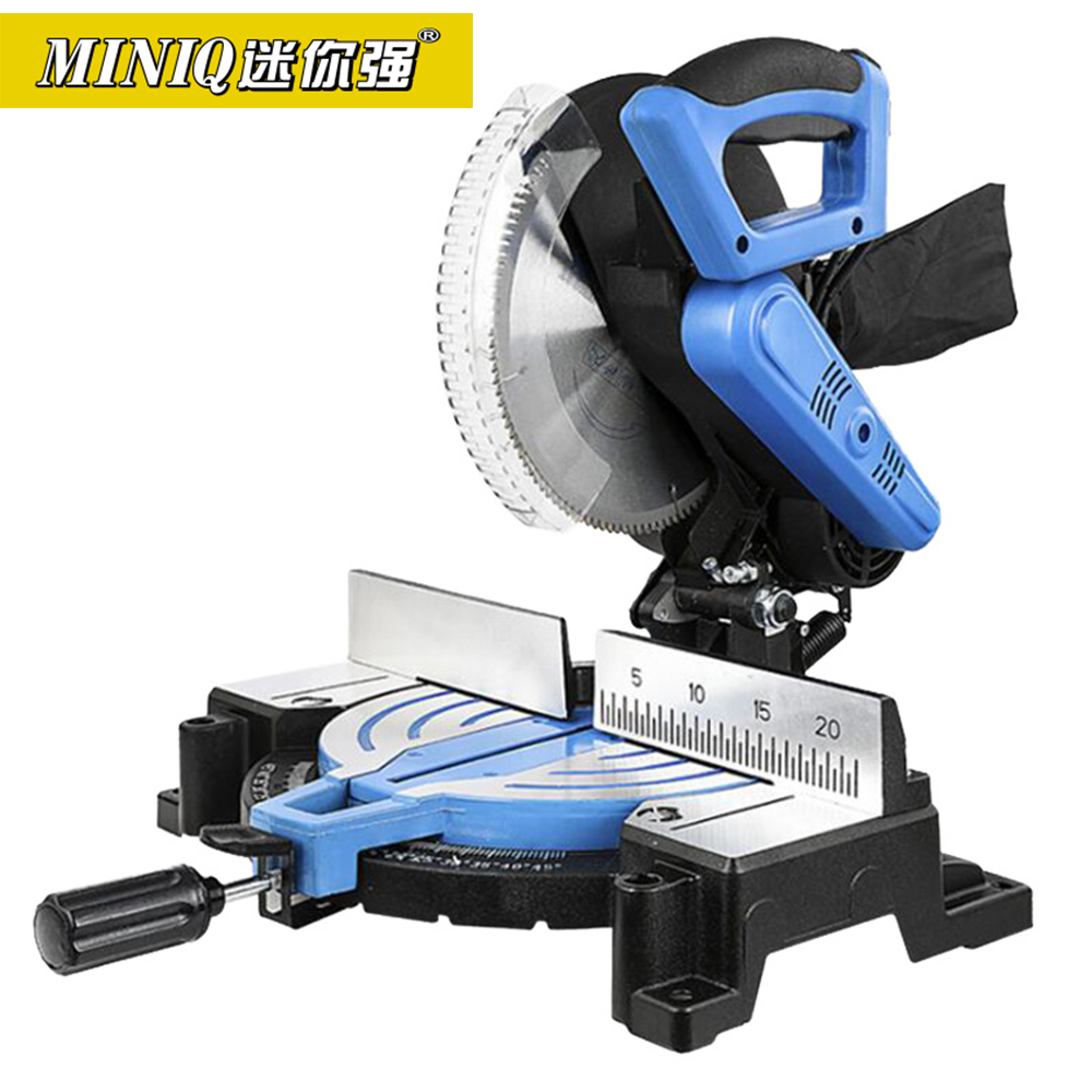 MINIQ 10 Inch Miter Saw High Precision 45 Degree Aluminum Profile Cutting Machine Saw Aluminum Machine Wood Aluminum Alloy