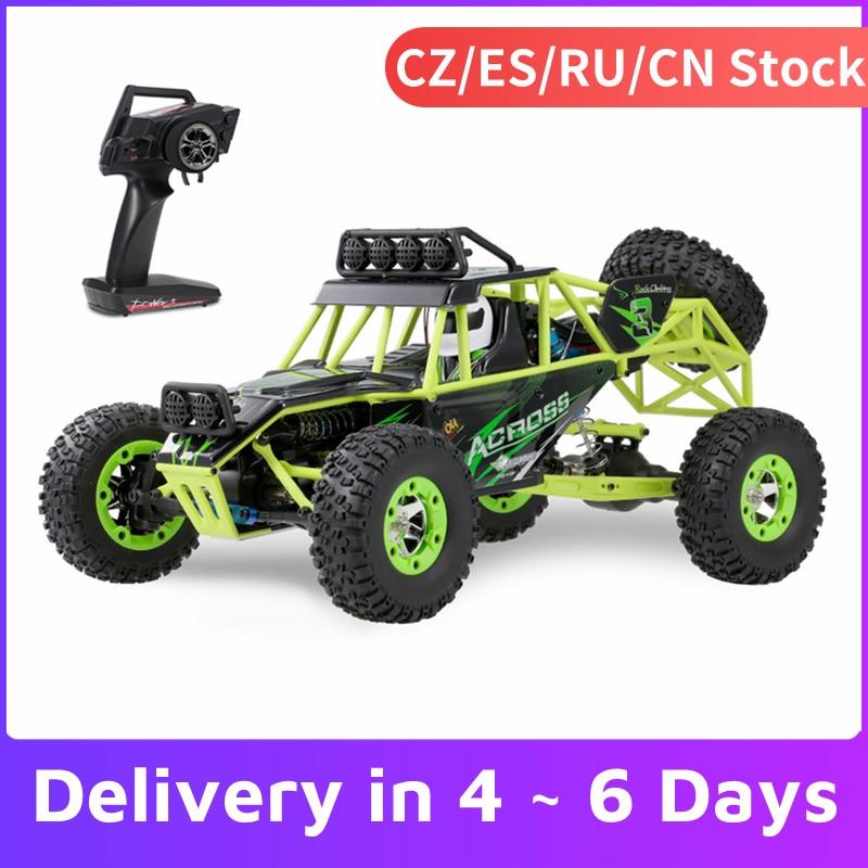 WLtoys 12428 1/12 RC araba 2.4G 4WD 50km/saat yüksek hızlı araba canavar kamyon radyo kontrol RC Buggy kapalı-Road elektrikli oyuncaklar