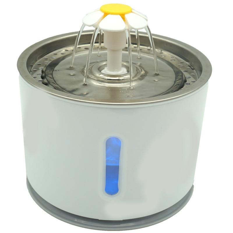 Автоматический водный фонтан для кошек с фильтром 2.4L питательный диспенсер для домашних животных электрический USB светодиодный питательны...