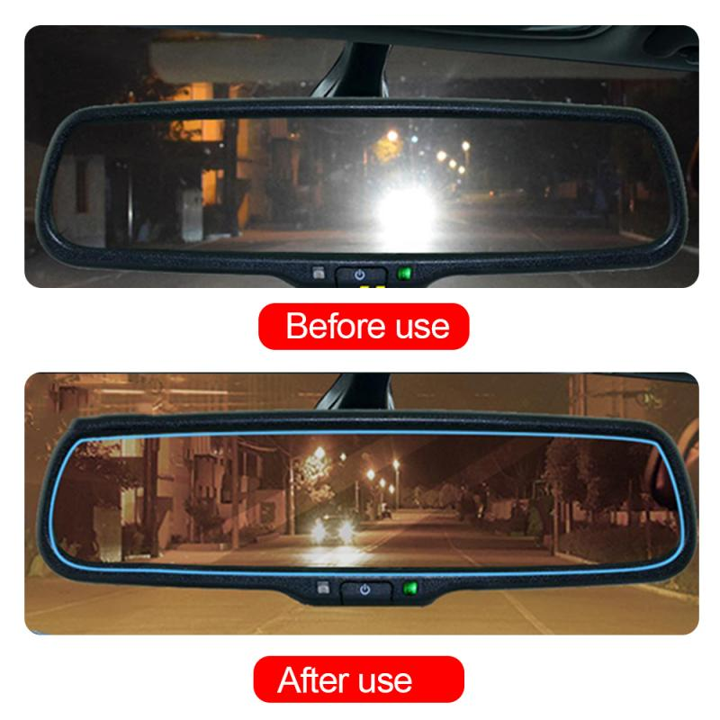 2Pcs Car Anti Glare Film Rainproof Car Mirror Window Clear Film Membrane Anti Fog Anti-glare Waterproof Sticker Car Accessories