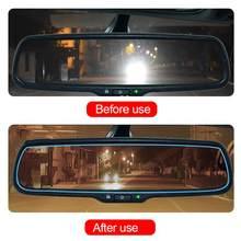 Film Anti-éblouissement pour voiture | 2 pièces, miroir de voiture étanche, fenêtre, Film transparent, Membrane Anti-brouillard, autocollant imperméable Anti-éblouissement, accessoires de voiture