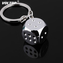 Dice Car Key Chain Accessories Pendant Decoration Metal Personality Model Alloy Noble Keychain for Car Key Ring dice pattern car key chain