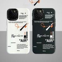 2021 Hip Hop Air White iPhone 12 Pro Max Case Street Fashion USA Brand Protector Skin Shell per iPhone 11/X/XS/XR/7 8Plus