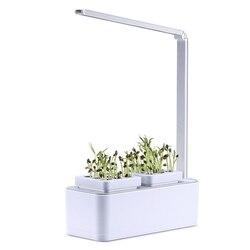 Inteligentny ogród ziołowy zestaw Led rosną światła hydroponicznych uprawy wielofunkcyjne biurko lampa rośliny ogrodowe kwiat namiot do uprawy hydroponicznej pudełko|Doniczki i skrzynki do kwiatów|Dom i ogród -