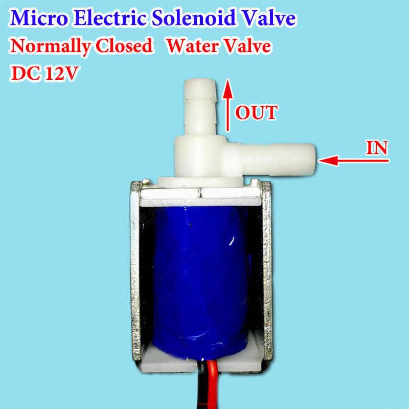 12 v マイクロ電磁弁開放排気落胆ミニ電気 n/c ノーマルクローズ水空気ツールパーツホームデコレーションガーデン用品