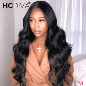 Middle Part Brazilian Body Wave Lace Wig 150% perruques bresiliens cheveux humain Wig For Women Headband Wig Remy Human Hair Wig(China)
