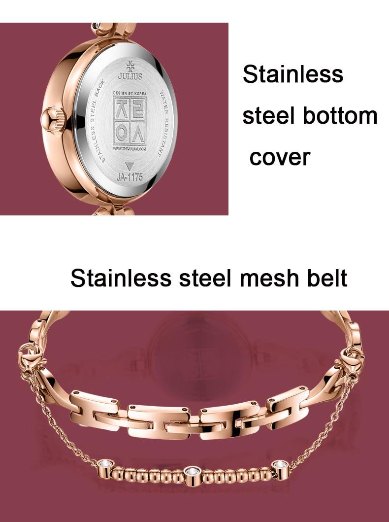 Julius luxo relógio de pulso novo simples