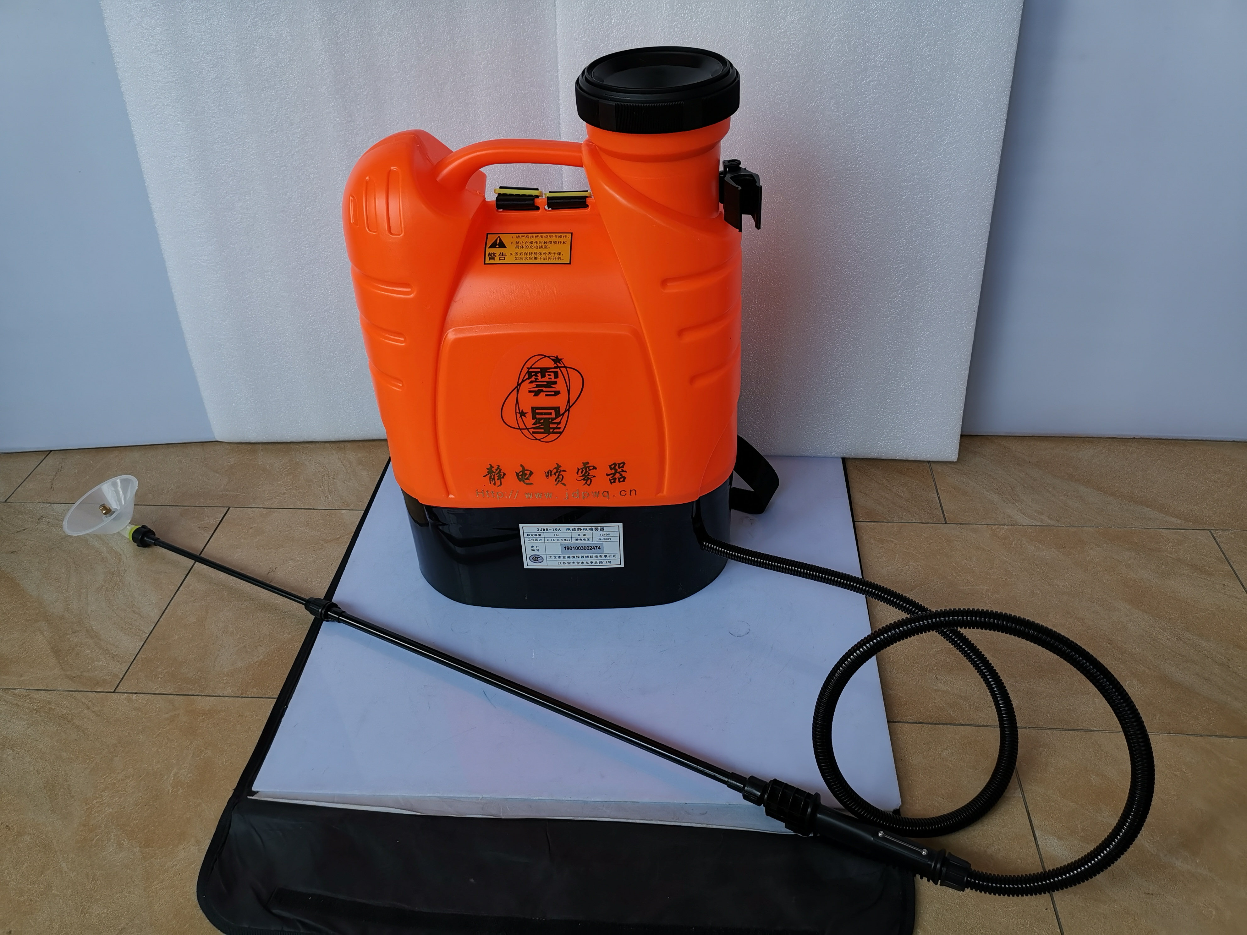 16L <font><b>12V</b></font> / <font><b>8AH</b></font> Lithium <font><b>battery</b></font> backpack Electrostatic ULV foger sprayer, garden Agricultural electrostatic adsorption sprayer image
