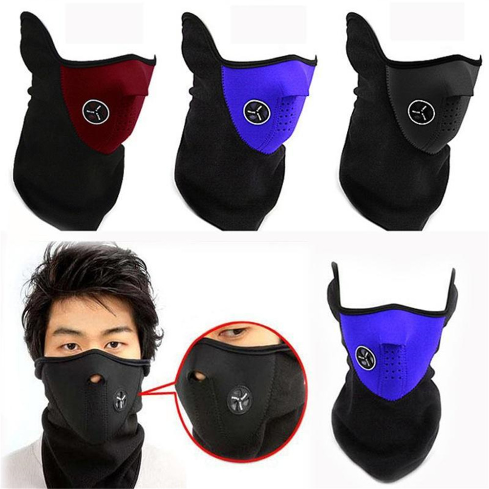 1PCS Unisex Motorcycle Half Face Mask Cover Cycling Riding Snowboard Ski Outdoor Sports Windproof Warm Winter Neck Face Mask