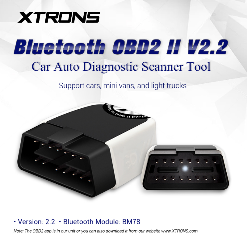 XTRONS Wireless Bluetooth OBD2 Android OBDII Car Auto Diagnostic Scanner Tool