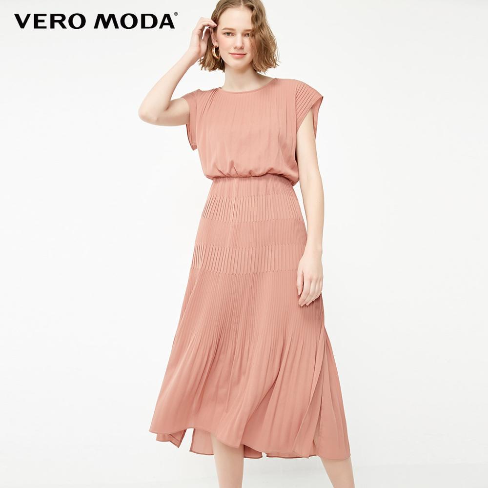 Vero Moda Women's Pleated Batwing Sleeves Dress | 31917A506