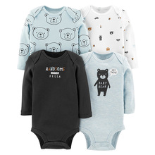 4pcs/lot Baby Bodysuits Cotton Boy Girl Clothes Infant Short Sleeve Jumpsuit Body For Babies Newborns Clothing