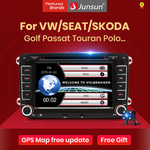 Junsun 2 din auto Radio Multimedia Player GPS para Volkswagen passat b6 VW golf Touran polo sedan Tiguan jetta Android 2din DVD(China)