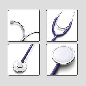 Image 4 - Portable Single Head Stethoscope Doctor Medical Equipment Professional Cardiology Stethoscope Student Vet Nurse Medical Device