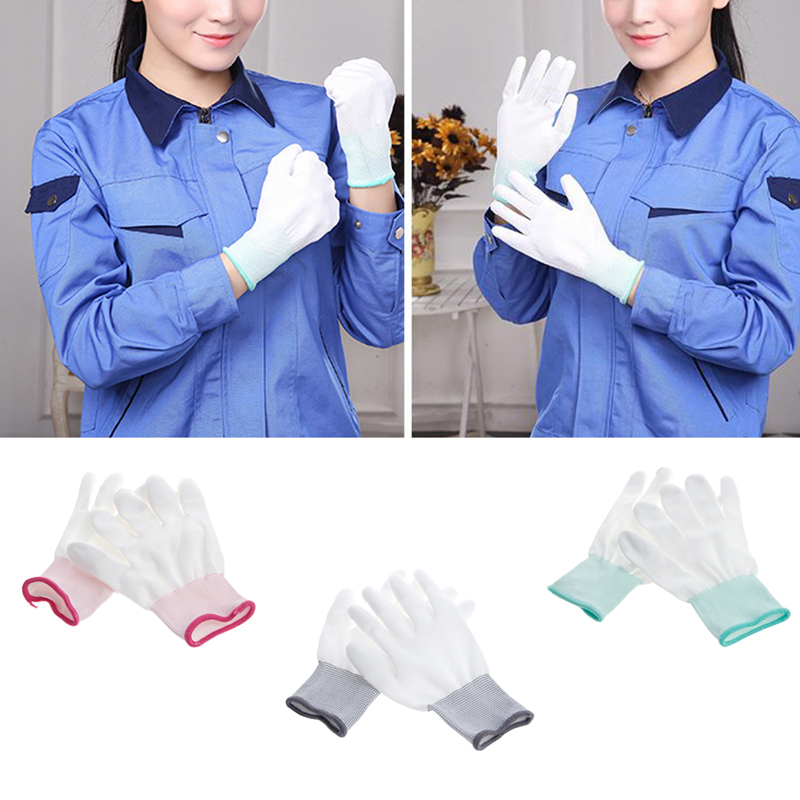 1Pair Anti Static Antiskid Glove PC Computer ESD Electronic Work Repair Gloves J6PB