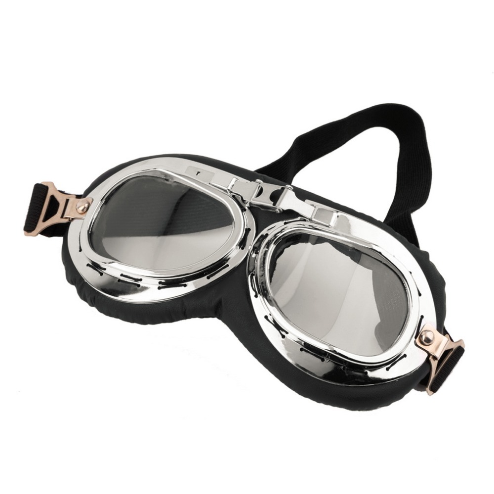 2020 Anti-UV Vintage Motorcycle Goggles Pilot Biker Helmet Sunglasses Scooter Cruiser Glasses Off-Road Motocross Racing Eyewear