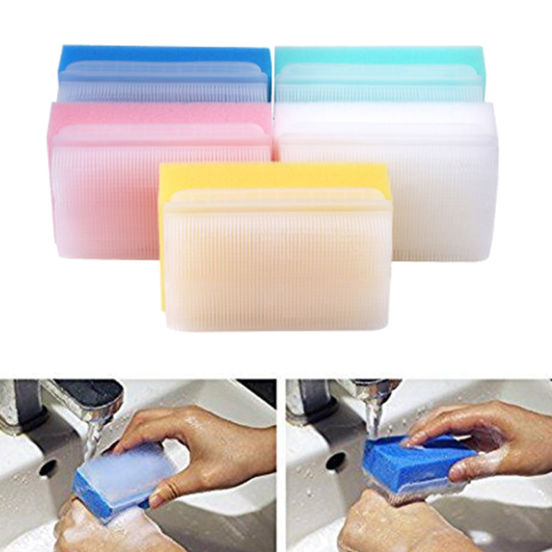 5pcs <font><b>Children</b></font> Sensory Brush Baby Bath Sponge Brush Surgical Hand New Denture Cleaning Brush Sterile Sponge Scrub Bristle Brushes image