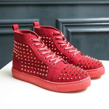 Jesienno-zimowa skóra aksamitna bi-metalowa klamra mężczyźni buty na zamek błyskawiczny wysoka moda z najwyższej półki płaskie buty para Trend Bling błyszczące buty kobiet tanie i dobre opinie PHERON Oksfordy CN (pochodzenie) Zima sztuczny zamsz RUBBER men shoes Wsuwane Na co dzień Dobrze pasuje do rozmiaru wybierz swój normalny rozmiar