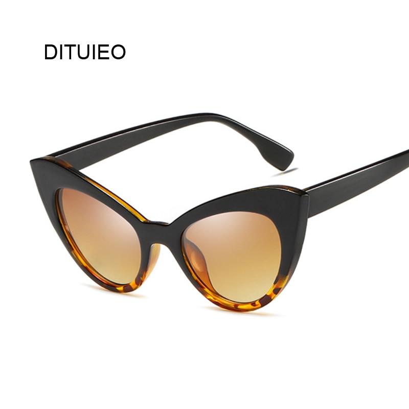 Lunettes De soleil œil De chat pour femmes, Vintage, noir et blanc, verres De marque, dégradé, pour la conduite, UV400