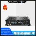 Fanless Mini PC i7 8565U i5 8265U i3 7020U Industrielle Computer 24 Stunden Arbeits 2 COM HDMI VGA Dual-Display 300M Wifi 4K HD HTPC